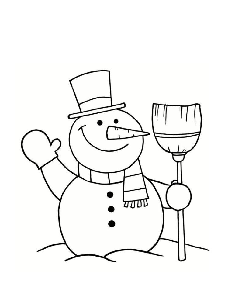 Coloriage bonhomme de neige 20 dessins bricolage - Dessin de neige ...