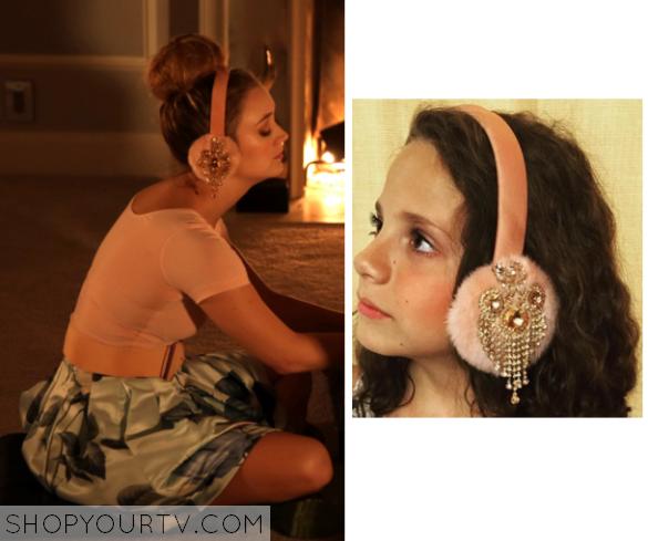 Chanel 3 Billie Lourd Wears These Pink Embellished Ear Muffs In