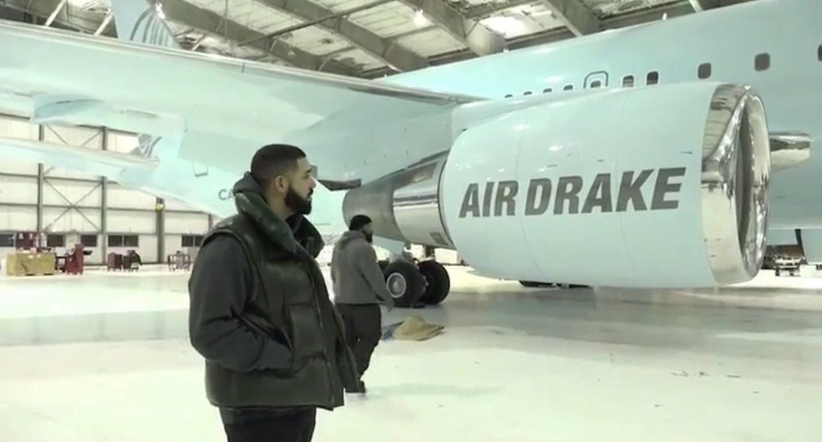 Canadian rapper drake unveiled his new private plane