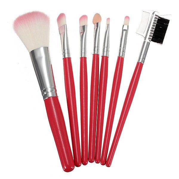 7pcs Professional Pink Cosmetic Makeup Brush Tool Brushes Kit Set
