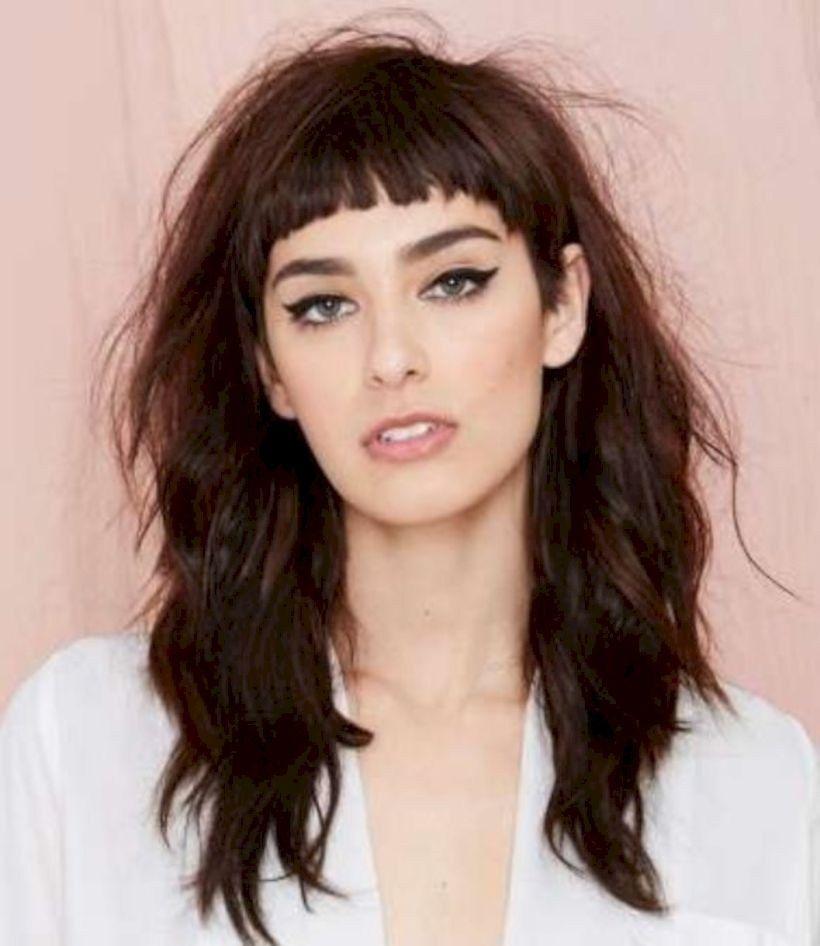 Long Hair With Short Bangs Is Best Women Haircut This Fall 27 Vattire Com Baby Bangs Long Hair Long Messy Hair Medium Hair Styles