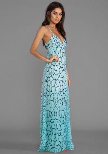 GYPSY 05 Printed Maxi Dress in Aqua - New