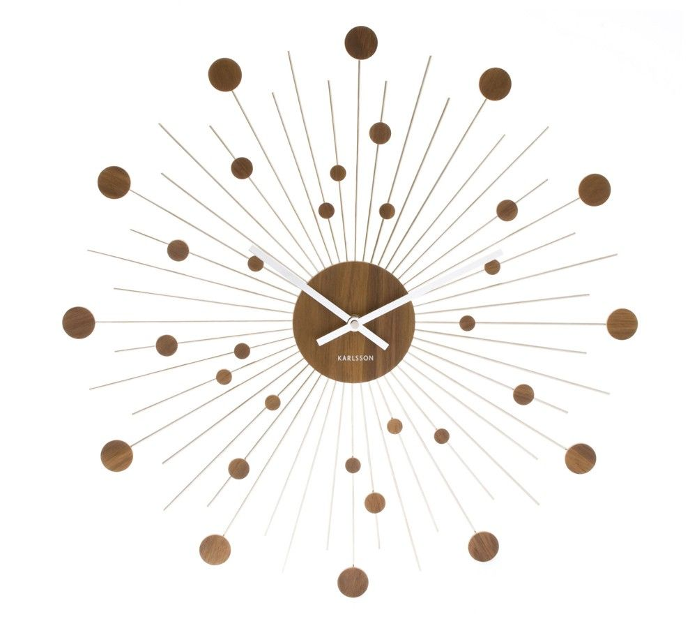 Väggklocka - Karlsson Remote Discs Wood