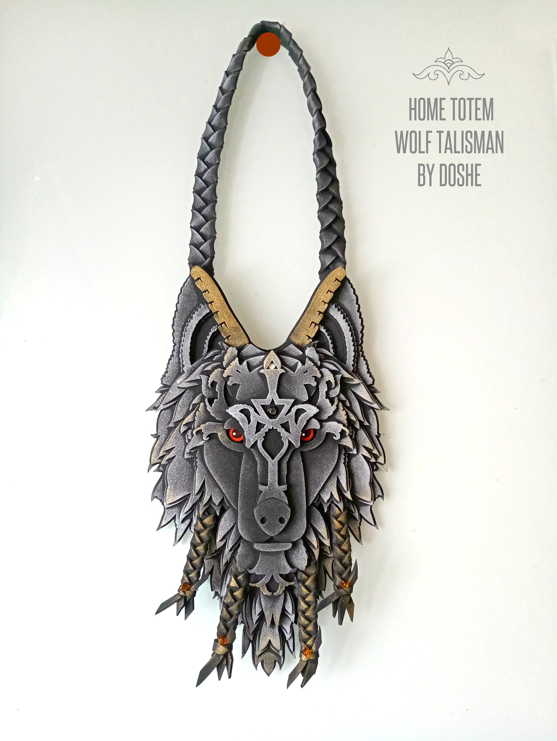 Car hanger Wolf gifts for men Wolf Totem Car accessories WOLF HEAD