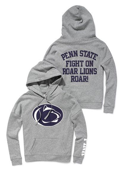 PINK Collegiate Collection - Penn State Slouchy Hoodie.  -Small (?)