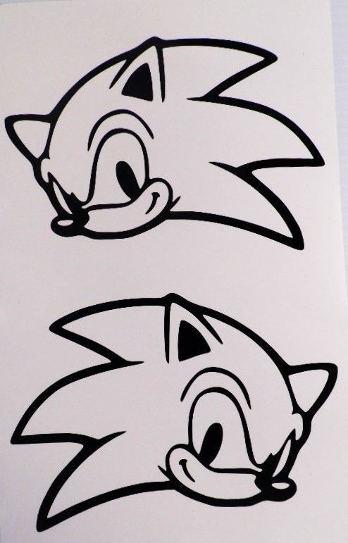 Sonic The Hedgehog Pair Funny Video Game Car Truck Window Vinyl Sticker Decal Wolven Tekenen Tekenen