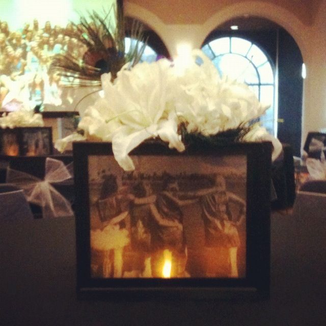 Diy Picture Frame Centerpiece Wedding Centerpieces