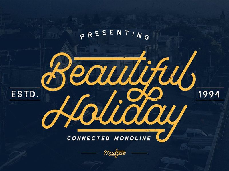 Madgue - Connected Monoline +EXTRAS - FREE Download Fonts and Graphics