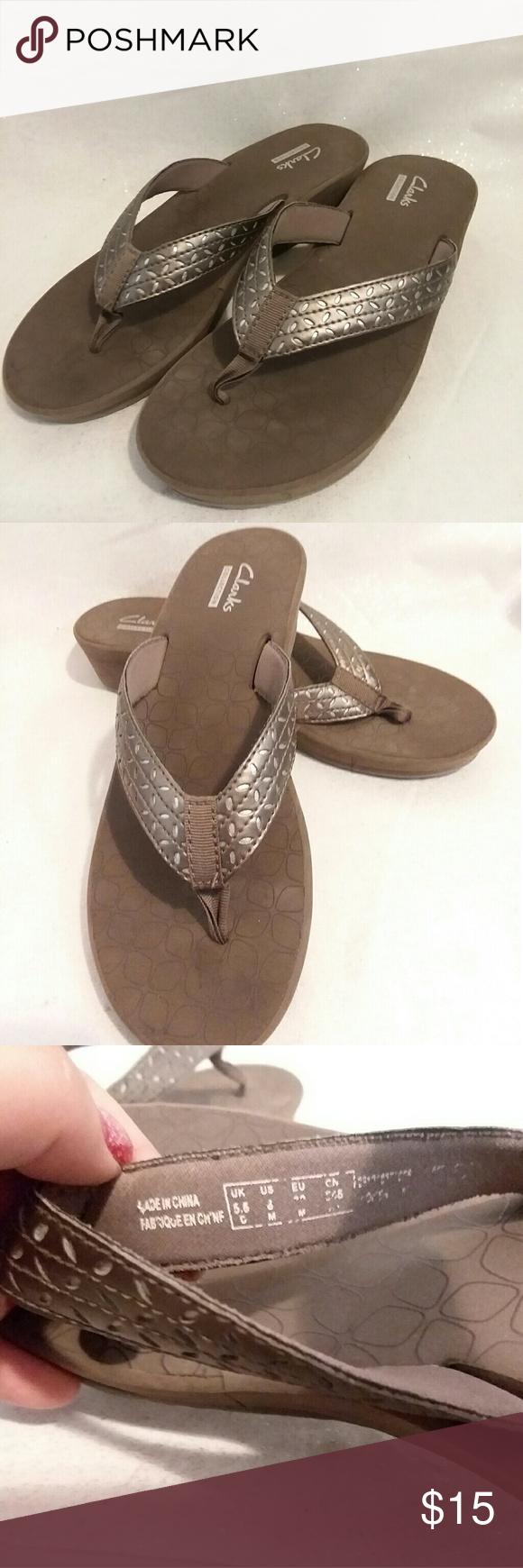 b0b35d91e038 Clarks Liya Gaze Womens Sandals Size 8 Pre-Owned in 2018
