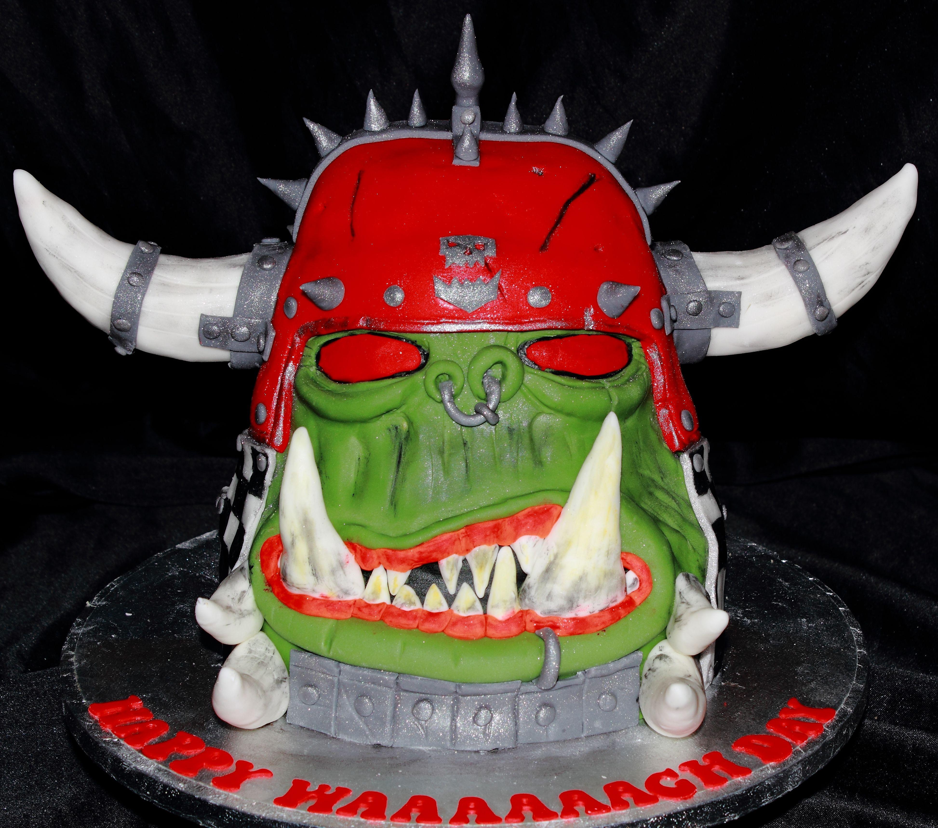 warhammer ork cake Wolf cake, Cake, Birthday cake
