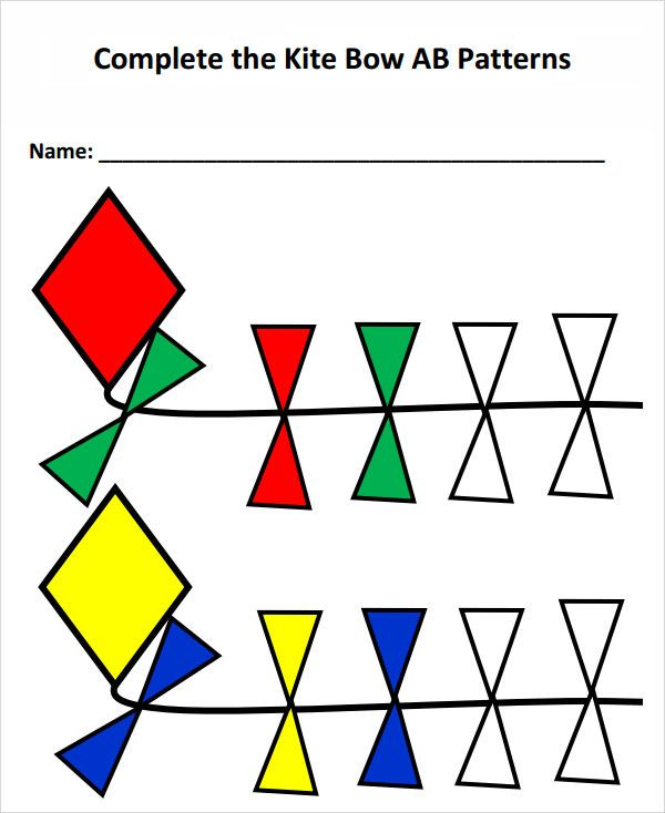 kite template with bows March/ spring Pinterest Kite template
