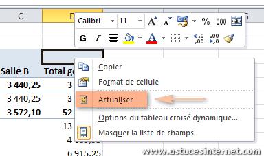 Creer Un Tableau Croise Dynamique Avec Excel 2010 Bureautique Articles Astuces Internet Tableau Croise Dynamique Bureautique Microsoft Excel