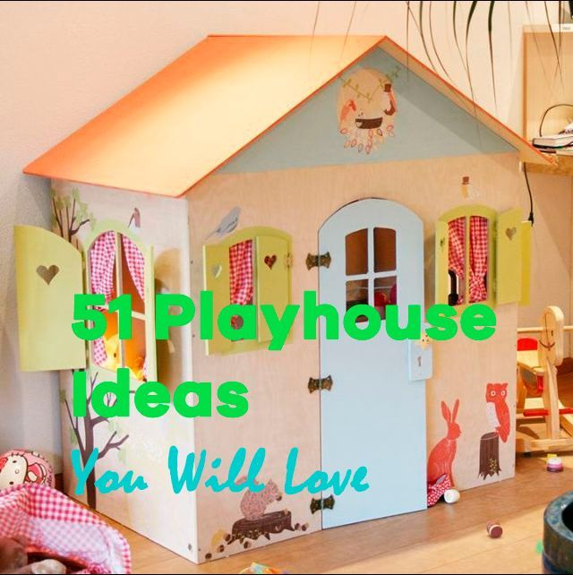 51 Unbelievable Indoor Playhouse Ideas ranging from DIY wendy houses ...