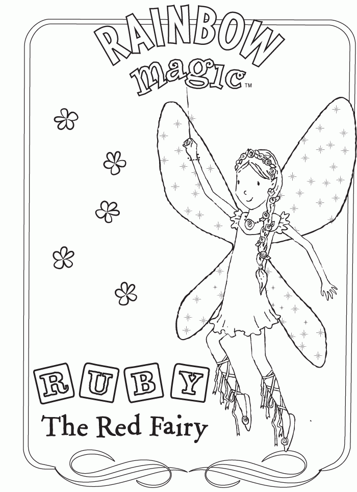 Rainbow fairy coloring pictures coloring pages for Rainbow magic fairy coloring pages