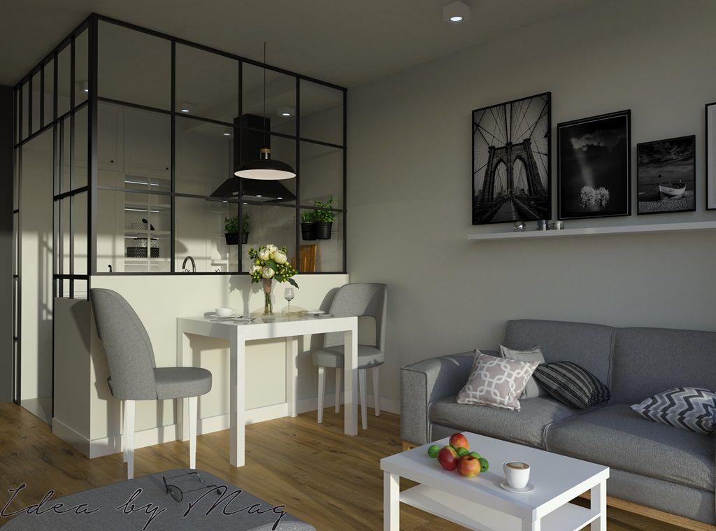 Razem A Jednak Osobno Salon Z Kuchnia Wydzielona Optycznie Mat Prasowe Ideabymag Home Decor House Interior Home