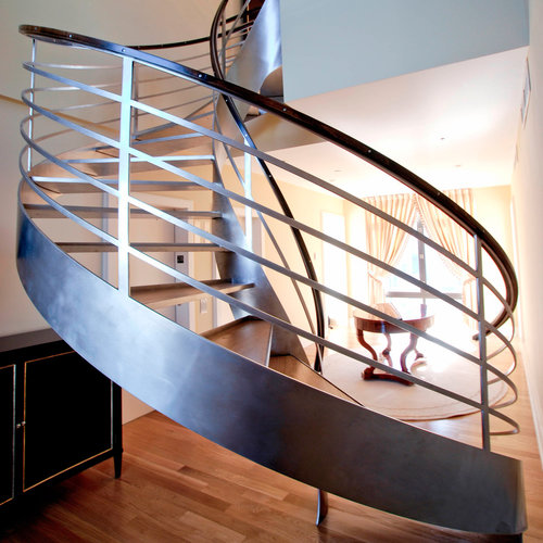Best Helical Staircase — Custom Metal Fabrication In Brooklyn Nyc 640 x 480