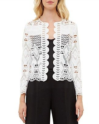 Ted Baker Dalmy Lace Crop Jacket