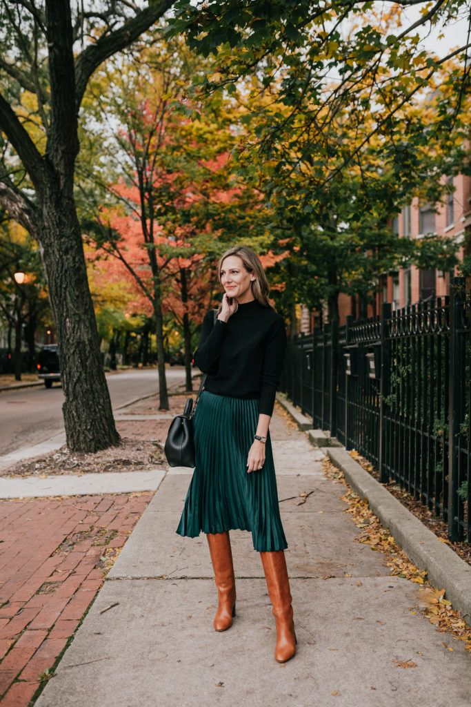 Photo of green skirt how to wear for the holidays – See (Anna) Jane.