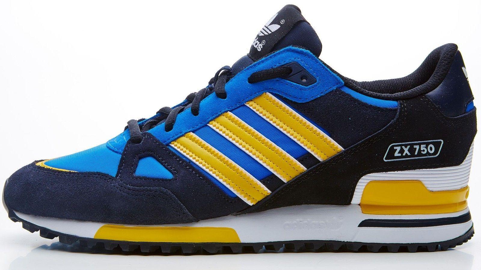 menor calendario Resplandor  adidas Originals Men's ZX 750 trainers black & blue & yellow D65230 | Adidas  originals mens, Adidas, Kanye west adidas