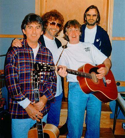 Jeff Lynne, George Harrison, Ringo Starr, & Paul McCartney. | The ...