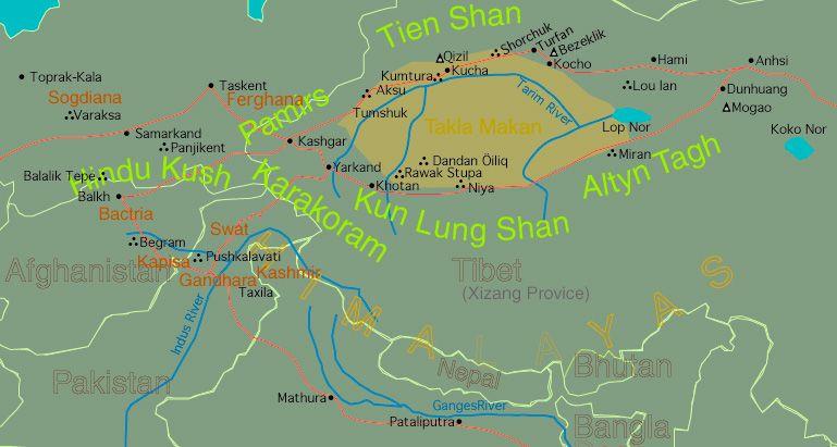 Unit 5 Part 1 Gandhara Map Of Region Dl0200m Buddhist Map Asian Art