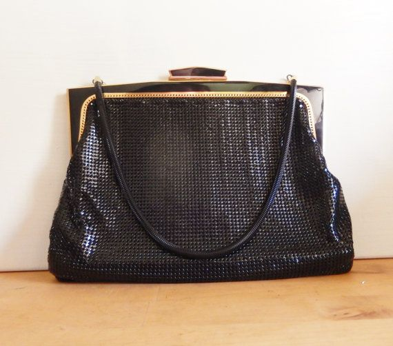 Vintage black purse Genuine Glomesh purse by MYHIGHSTREETBOUTIQUE, $40.00