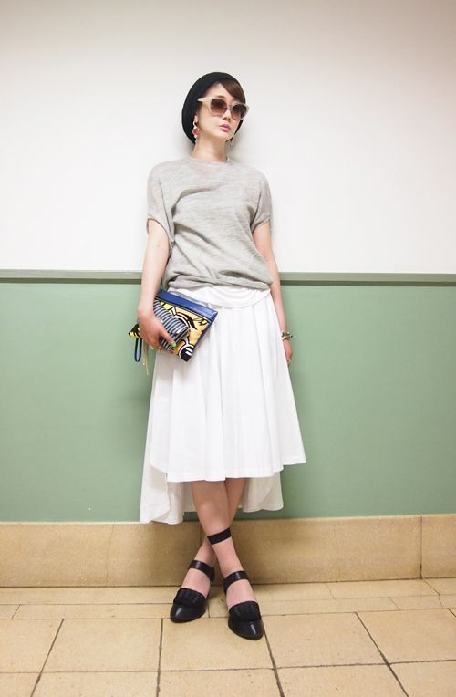 "grayKNIT:select shop""special""にて skirt:shopbopにて socks:CRY"