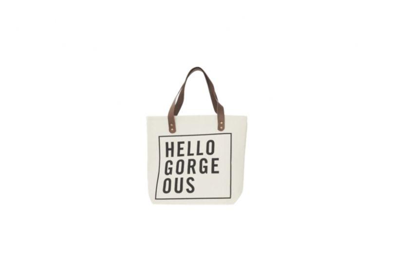 Shopper - Hello | Moodings.com | Cool shopper i lækkert design far House Doctor. Brug tasken på arbejde, til indkøb eller på shoppeturen.