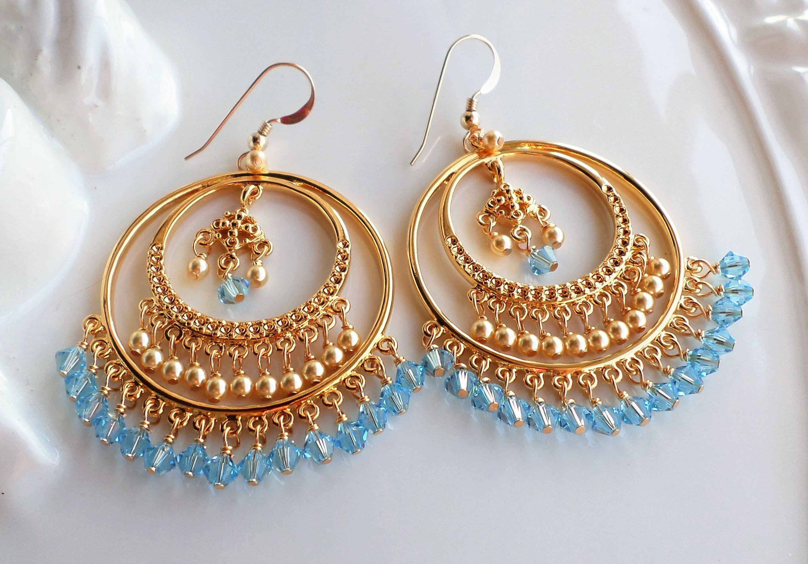 Gold chandelier earrings large big gold hoop earrings gold pearl gold chandelier earrings large big gold hoop earrings gold pearl chandelier earring aqua aloadofball Images