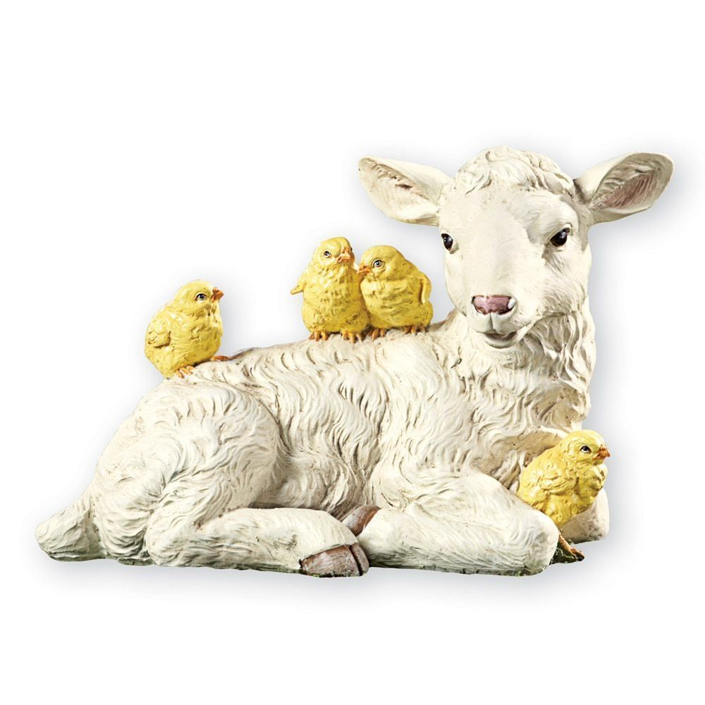 Easter Lamb And Chicks Figurine #CollectionsEtc #Casual #AllOccasion