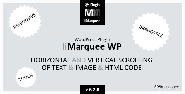 liMarqueeWP - horizontal and vertical scrolling of text and image