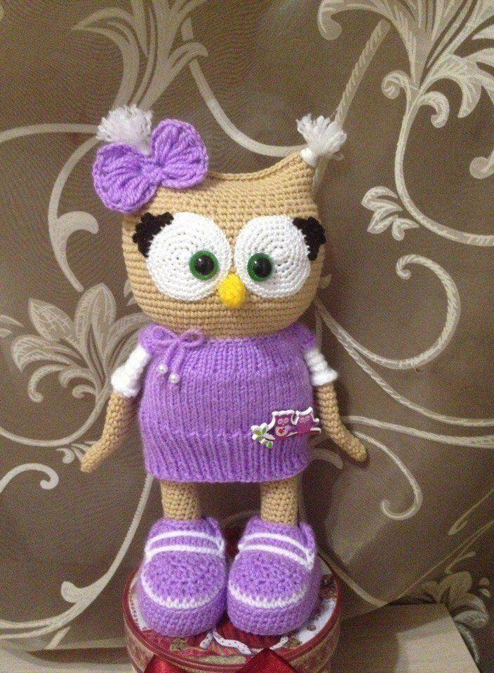 Cute owl in dress amigurumi pattern | Amigurumi-muster, Das kleid ...