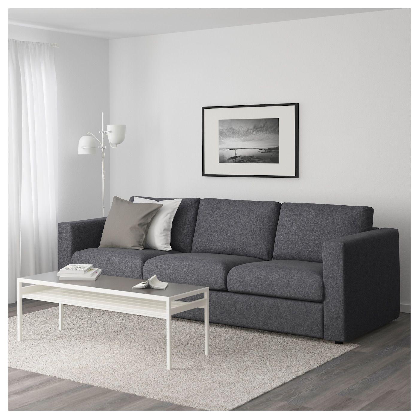 Vimle 3er Sofa Gunnared Mittelgrau Ikea Osterreich 2er Sofa 3er Sofa Elegantes Wohnzimmer