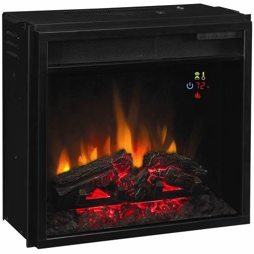 Classic Flame 28 Inch Fixed Glass Electric Fireplace Insert