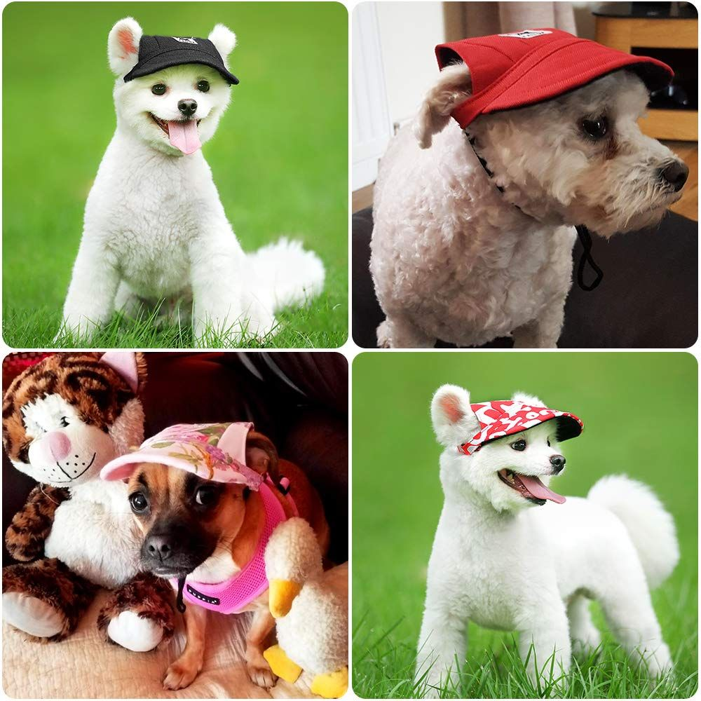 Happy Hours Dog Hat Pet Baseball Cap Dogs Sport Hat Visor Cap With Ear Holes And Chin Strap For Do Dog Hat Pets Sporting Dogs