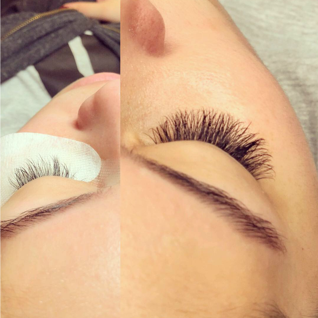 15fe8854493 Karley is transitioning her client from classic to volume lashes.  @beautybykarley_k