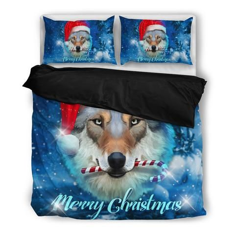 Wolf Christmas Bedding Set (Free Shipping + 2 Matching Covers