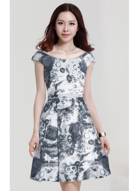 Fastkharidi Grey Printed Western Dress For Women @Looksgud.in #Fastkharidi #Gray #Dress