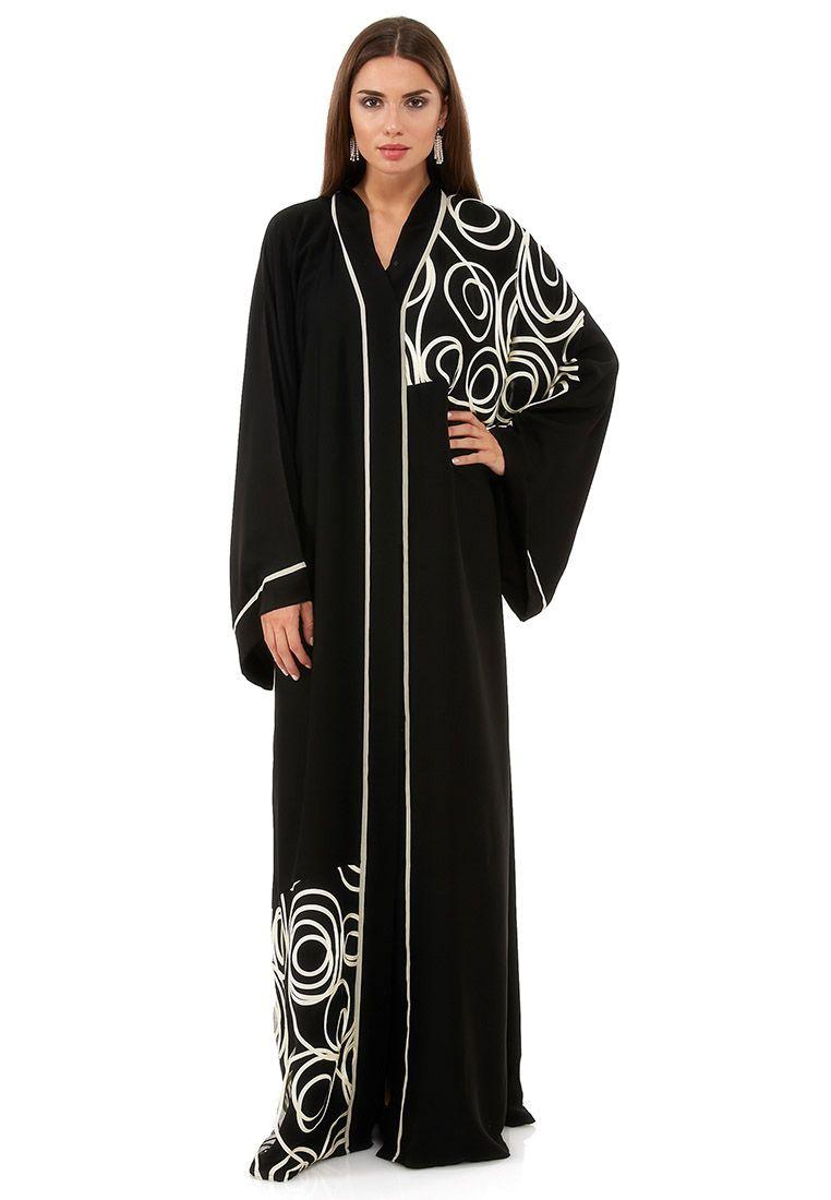 6cb4c0870a9 Shop Haya s Closet black Rose Cutwork Abaya - Women Clothes in Kuwait