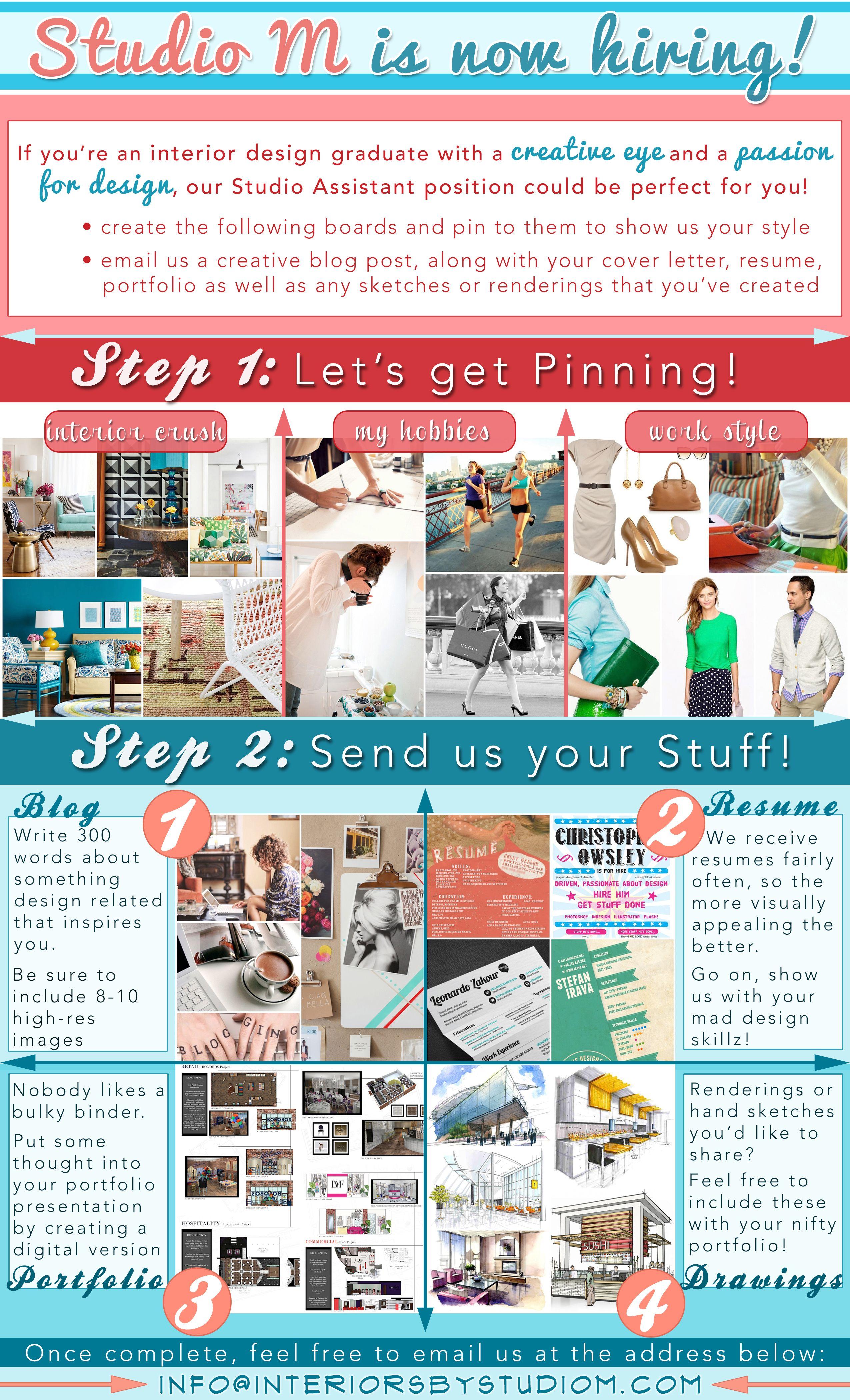 studio m is now hiring interior designers send us your resume rh fi pinterest com