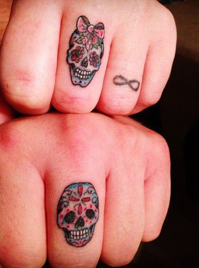 16 Couples Tattoos That Are Better Than Diamond Rings | Skeletons ...