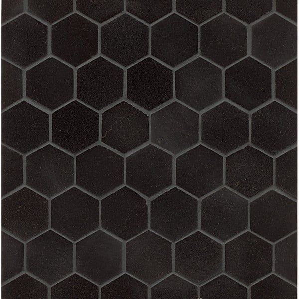 Lovely Absolute Black Granite Hexagon Mosaic Polished Box of 10 sheets Style - Unique black granite tile For Your Home