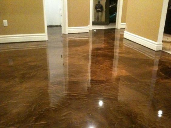 This Acid Stained Concrete Floor Looks Like Luxurious Marble Stain Is The Way To Go