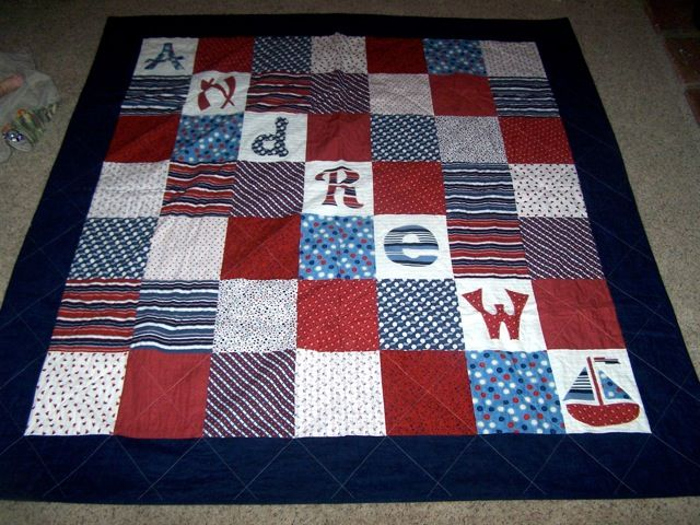 Little boy nautical quilt   I want to make this for Gavin!