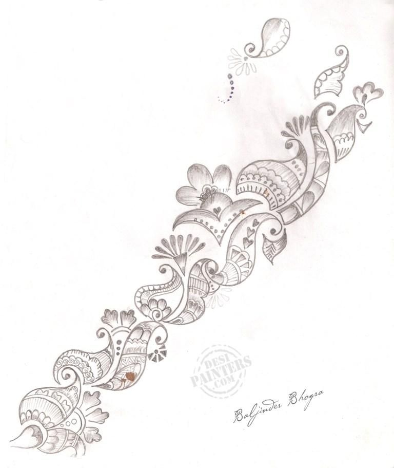 mehndi designs drawings - Google Search | Mehndi doodles ...