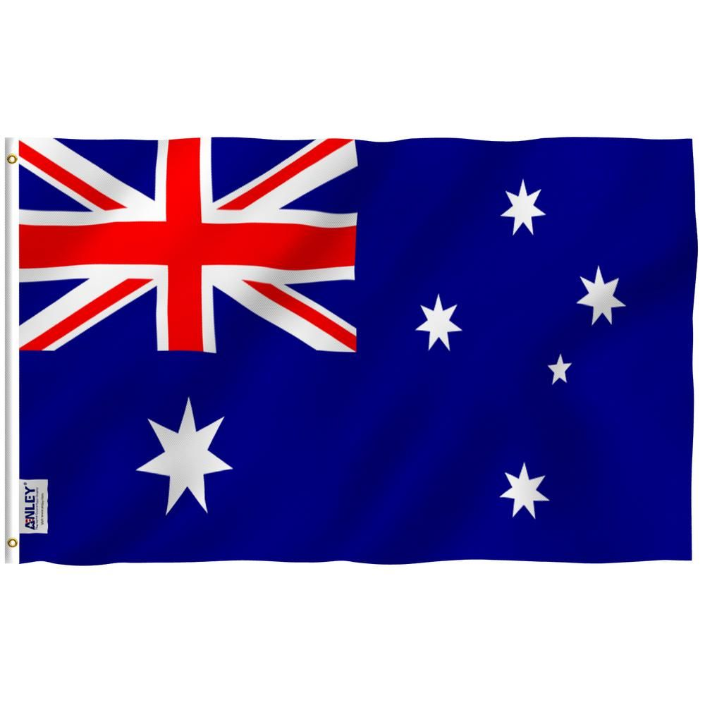 Anley Fly Breeze 3 Ft X 5 Ft Polyester Australia Flag 2 Sided Flags Banner With Brass Grommets And Canvas Header A Flag Australia The Home Depot In 2020 Australian Flags Australia Flag Flag