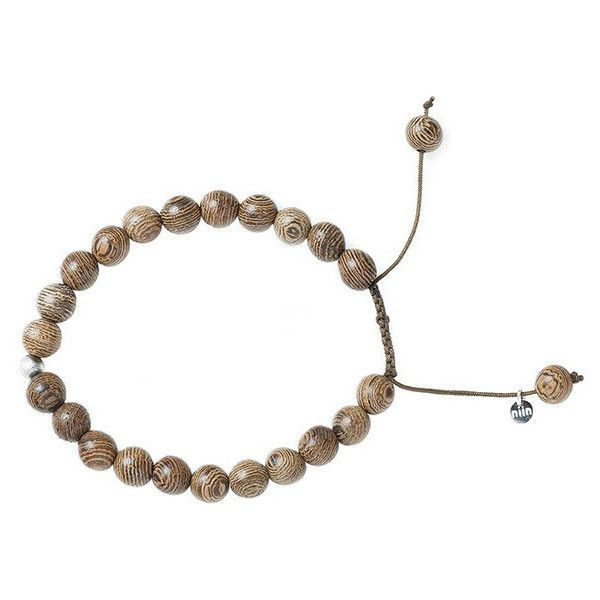 Single chunky 8mm bead bracelet with meteorite - wood (8.250 RUB) ❤ liked on Polyvore featuring jewelry, bracelets, chunky bangles, bead jewellery, wooden beads jewellery, wood jewelry and wooden bead jewelry