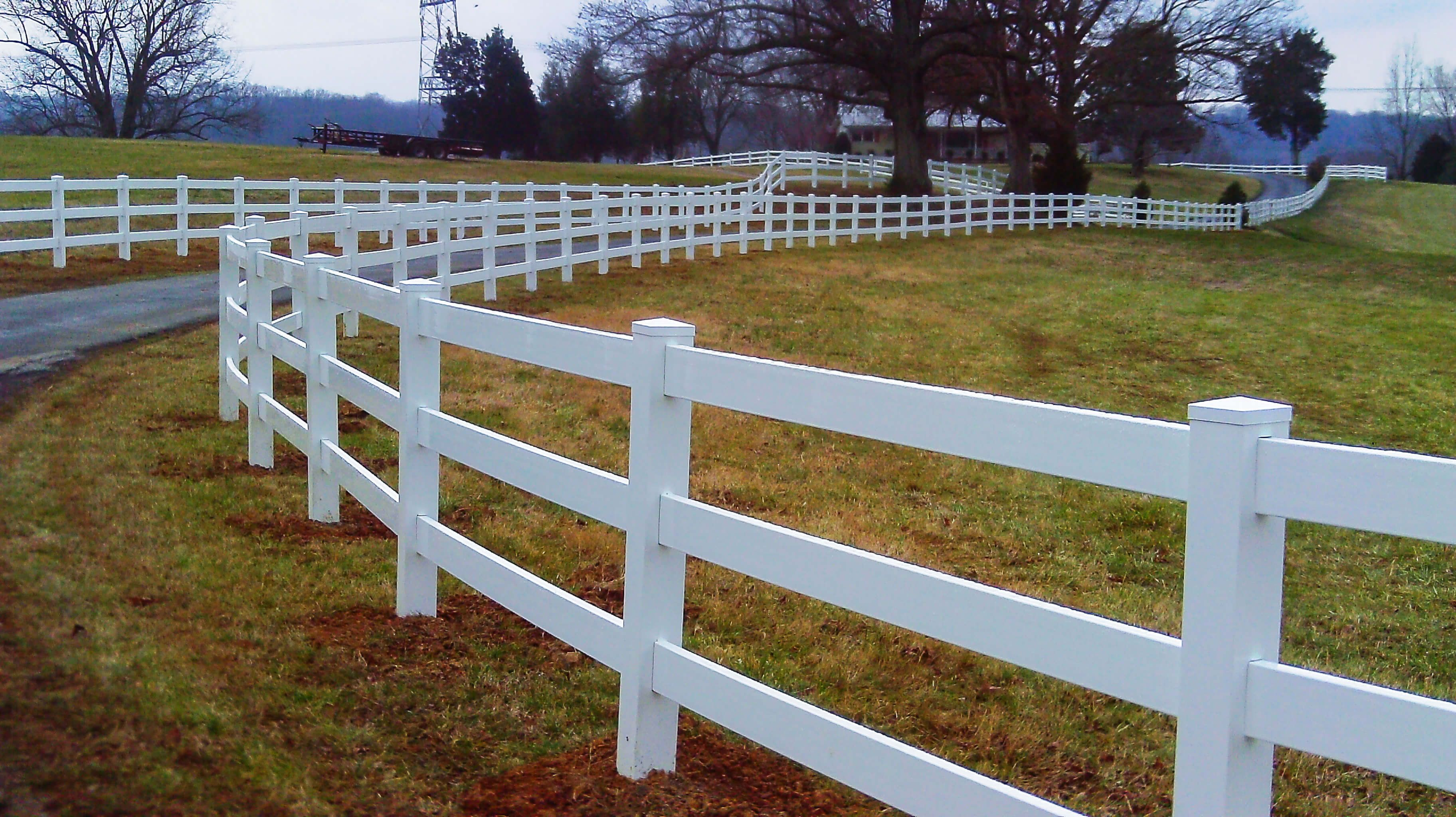 3 Rail White Vinyl Fence Durable Made In Usa White Vinyl Fence Pergola Vinyl Fence