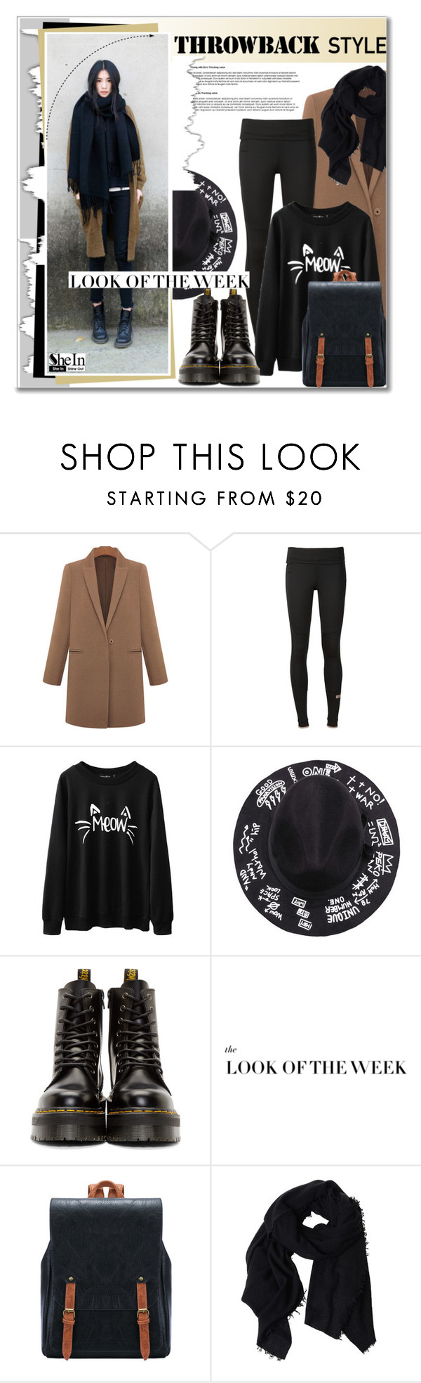 """Untitled #2209"" by deeyanago ❤ liked on Polyvore featuring adidas, Dr. Martens, Faliero Sarti, GetTheLook, Sheinside and throwbackstyle"