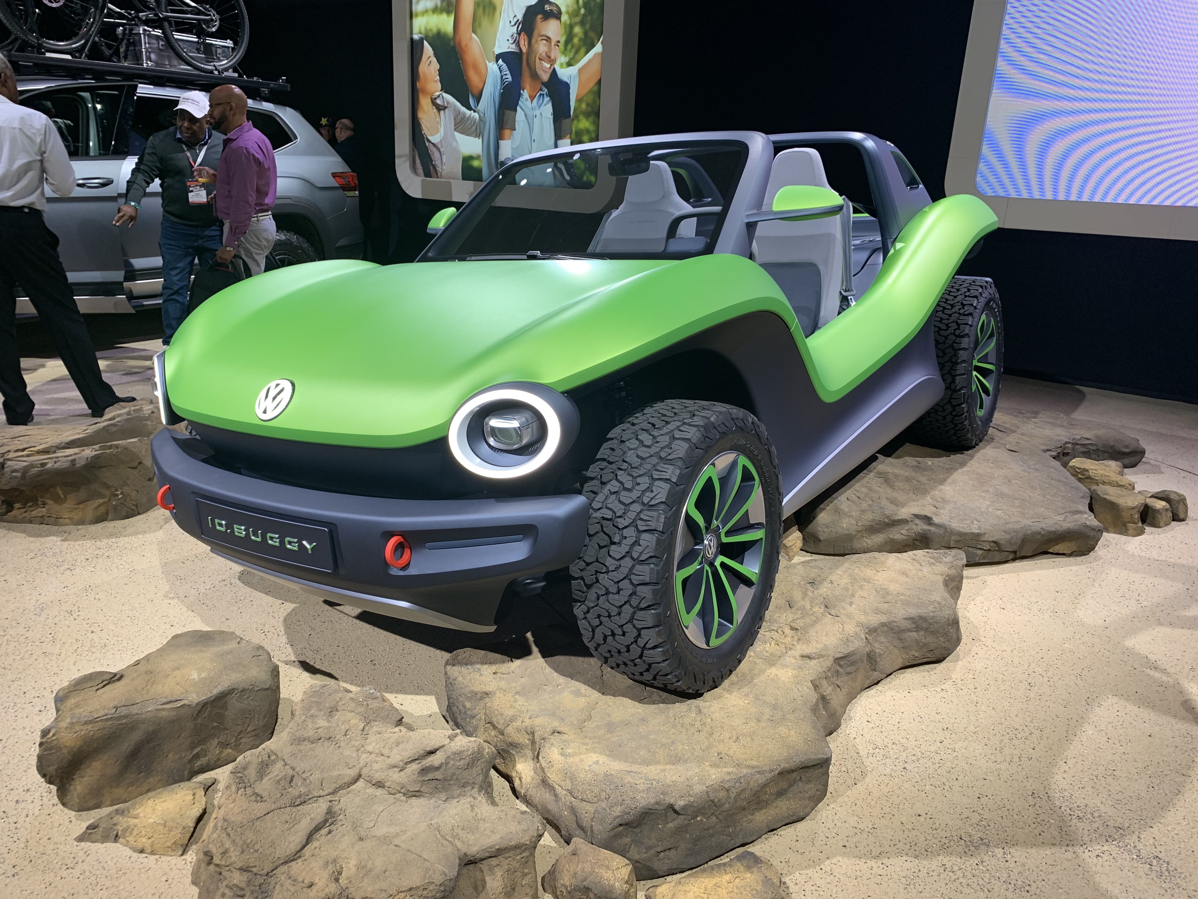 The electric-powered I D  Buggy: VW's modern